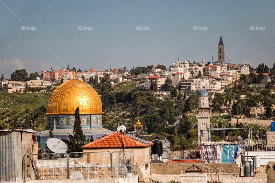 Israel, jerusalem, view of old city