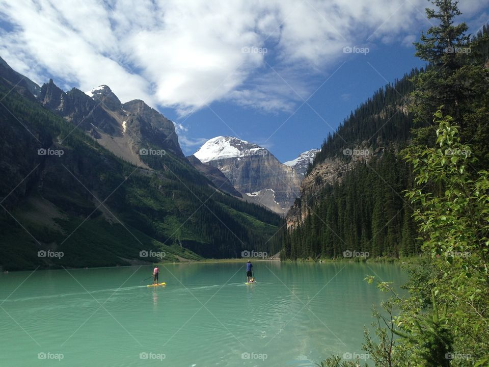View of beautiful Lake Louise