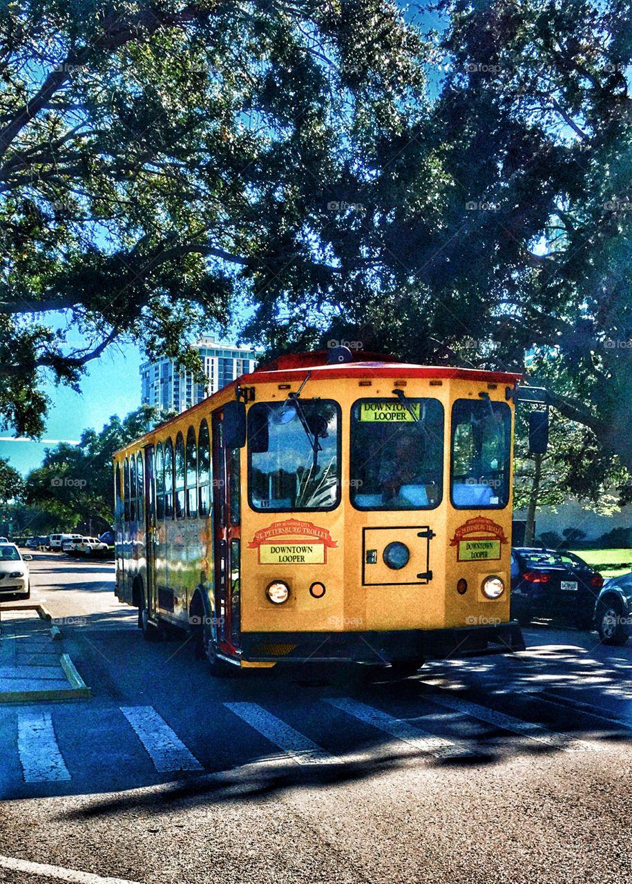 St. Petersburg trolley.