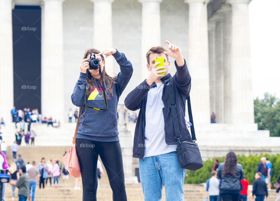 Couple enjoy camera fun in DC