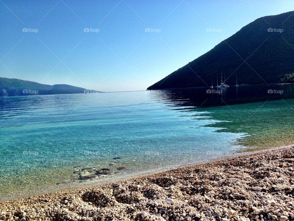 An idyllic beach in Kefalonia
