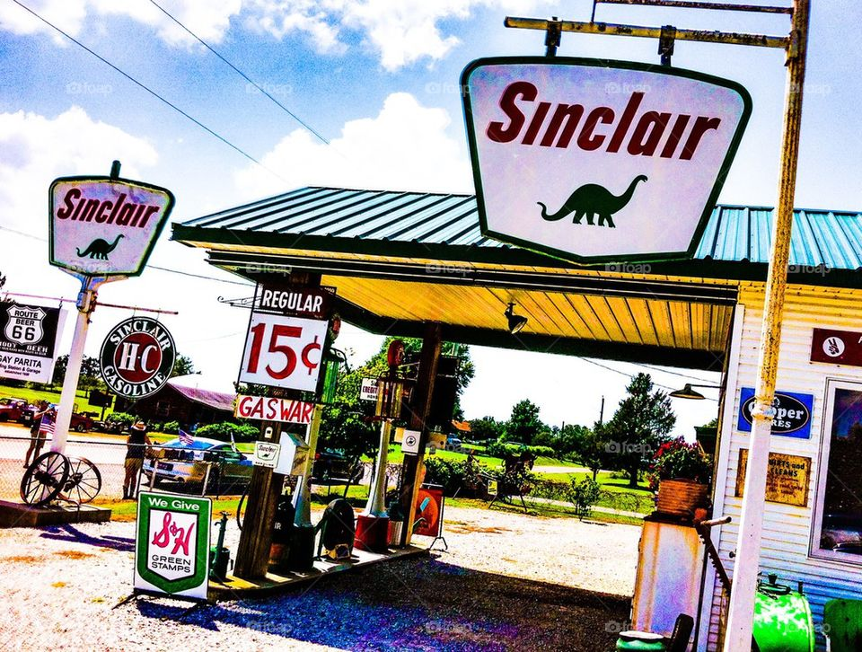 Vintage Sinclair Gas Station
