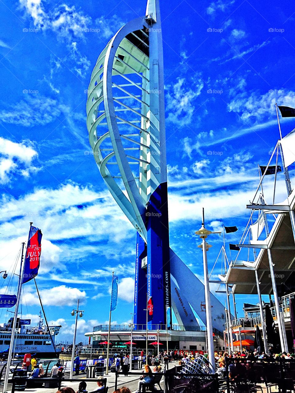 Spinnaker tower in the sun. Lovely day in Portsmouth
