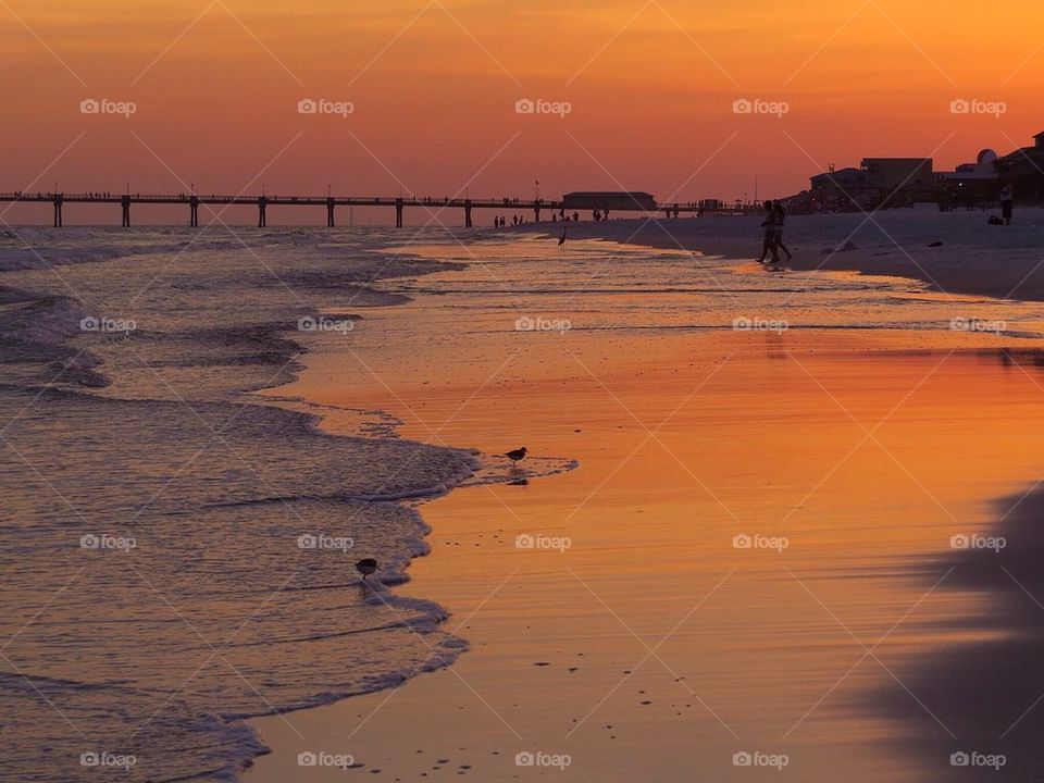 sunset | water, no person, dawn, beach