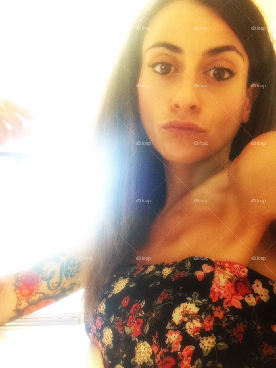 Tattoo and Woman . Nice Tattoo on a beautiful Woman