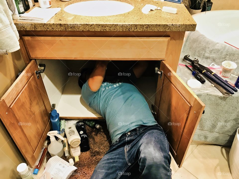 Fixing the sink