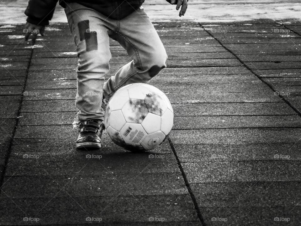 Street Soccer Black & White