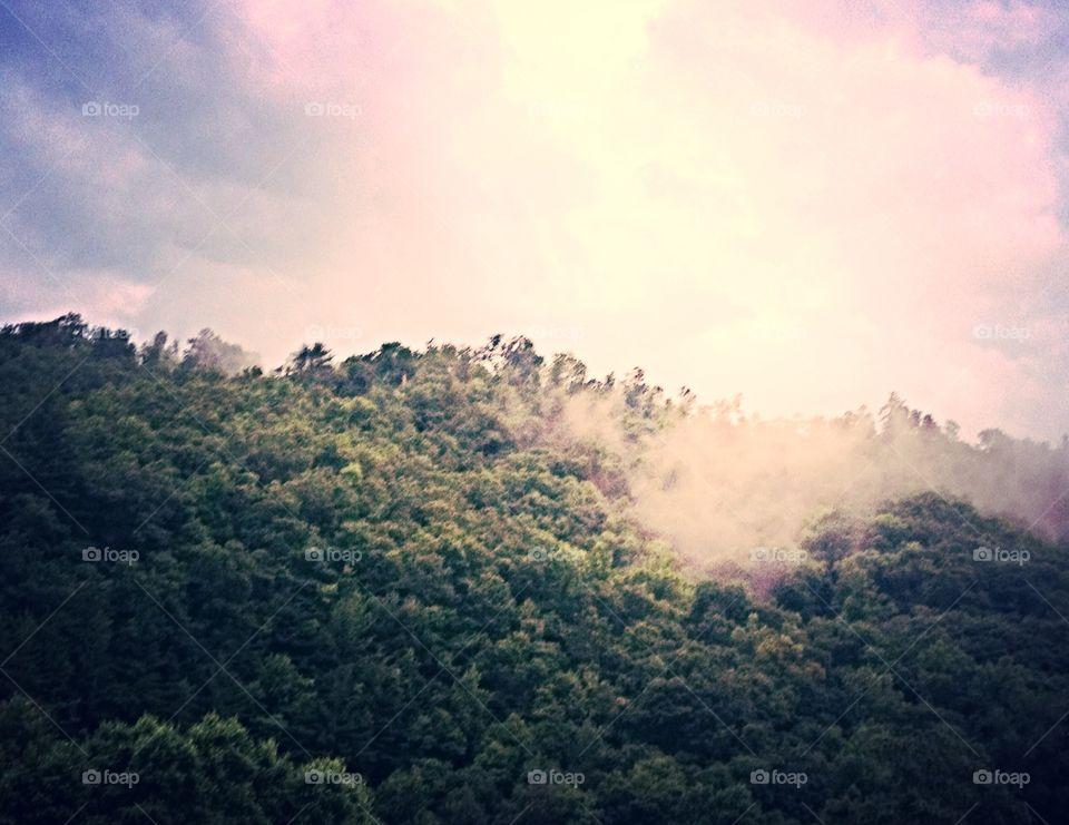 Rocky Smoke. Rocky Mountains