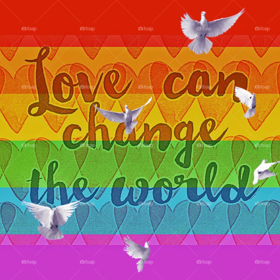 Doves of peace and love
