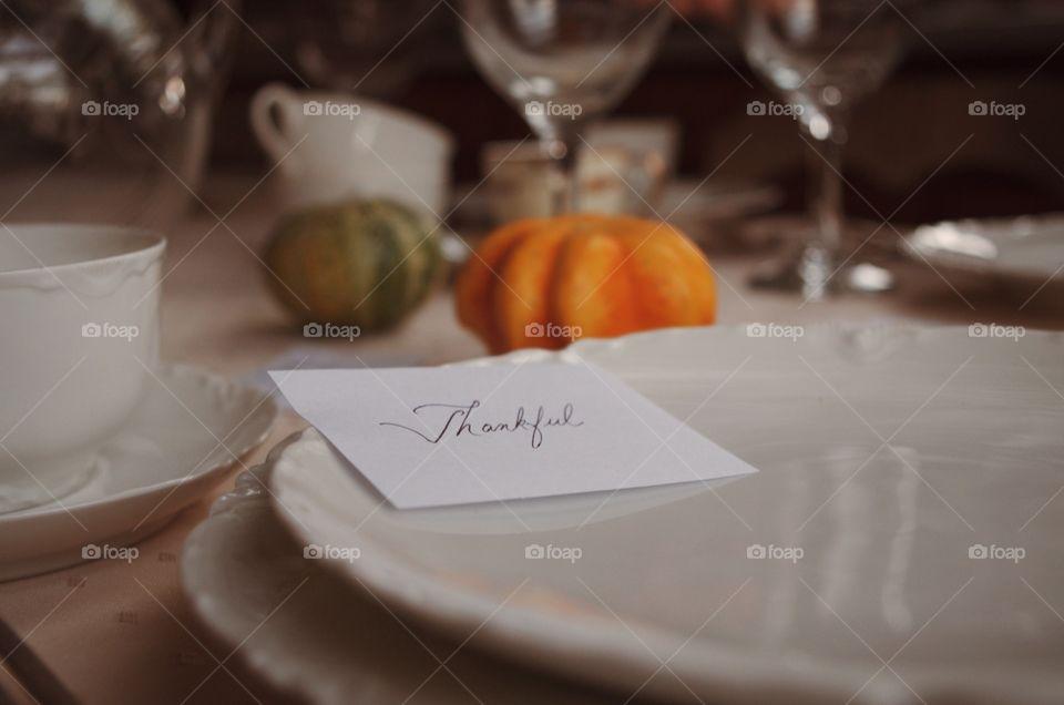 Celebrating with Thankfulness