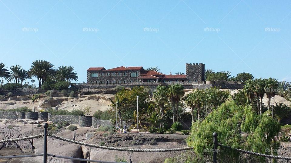 modern castle on fanabe tenerife