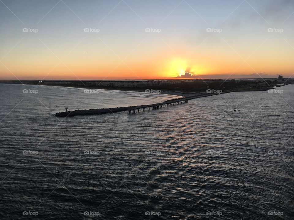 Sunset in Port Canaveral
