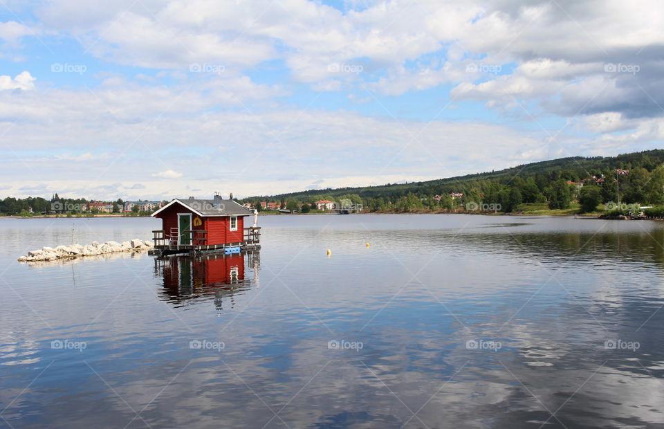 Siljan, lake in Sweden.