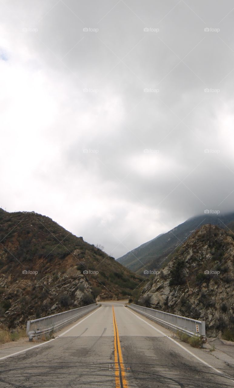 Highway leading its way through the mountains