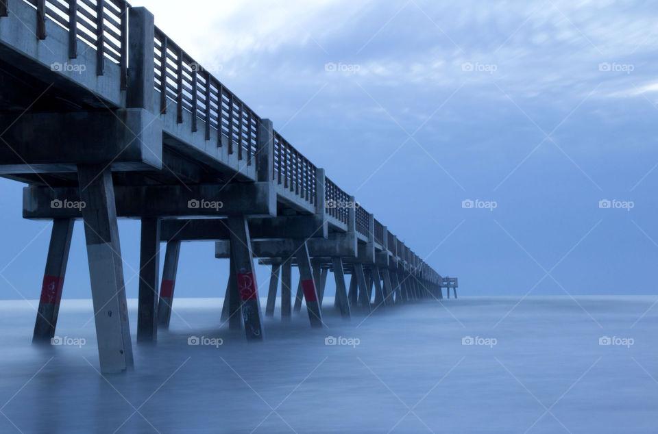 beach blue morning fishing by ventanamedia