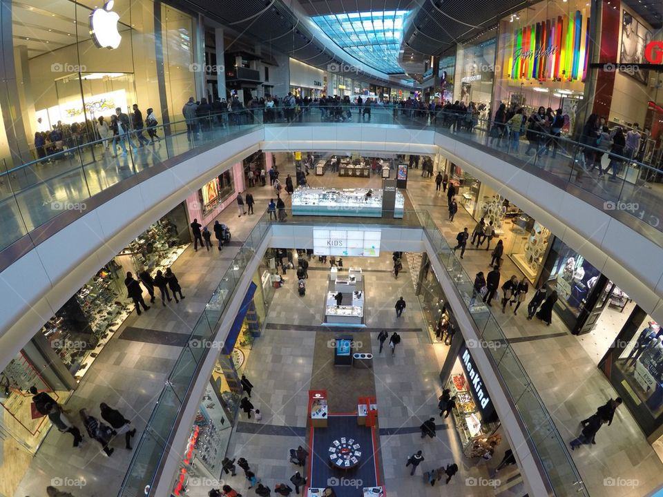 Westfield shopping center (centre) in Stratford, London , UK