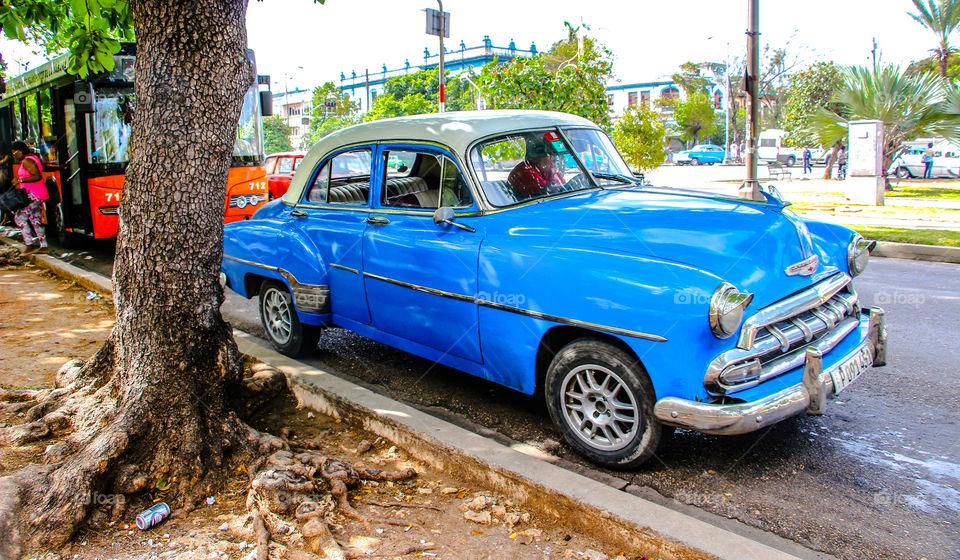 Classical car in Cuba