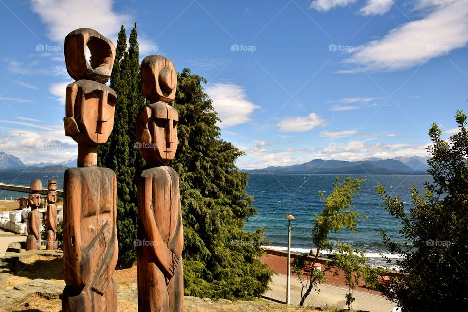 Wood statues san Carlos de Bariloche