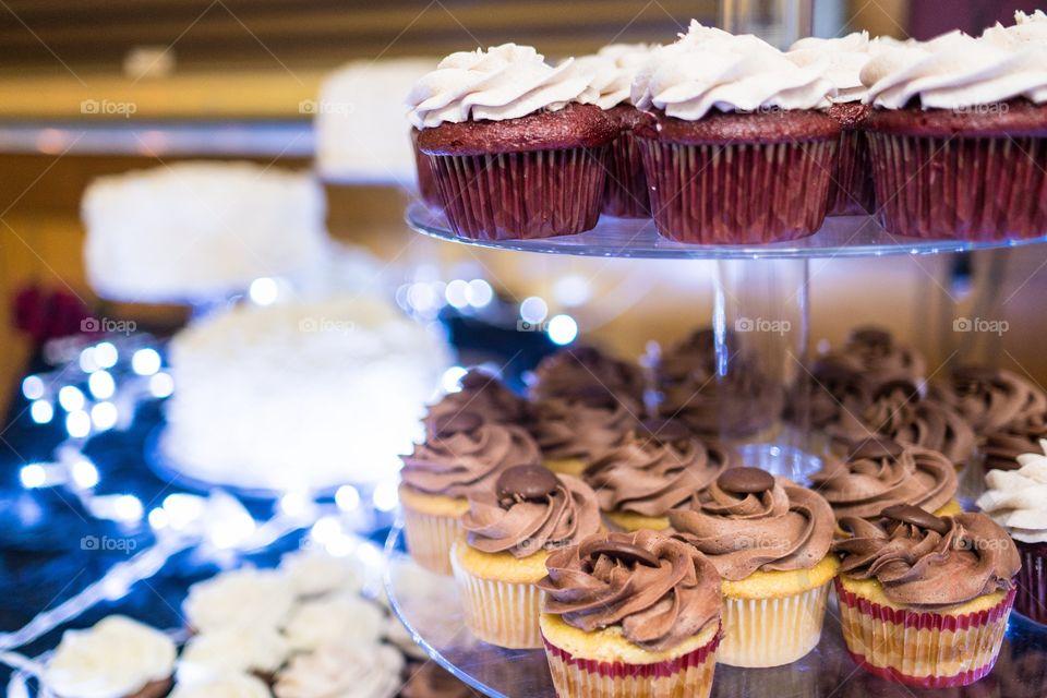 Cupcakes at a wedding