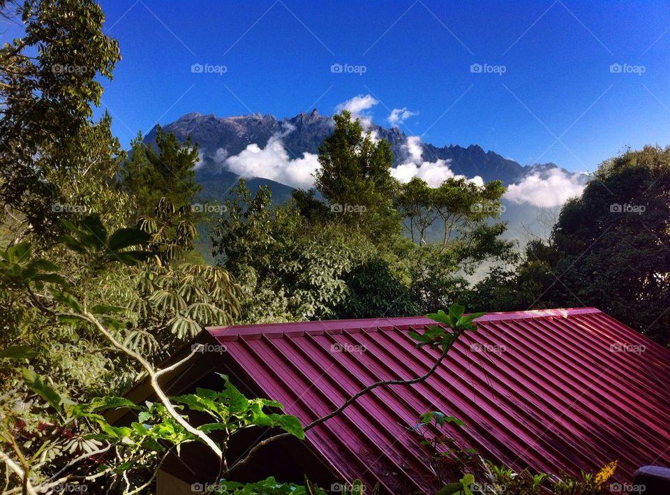 Scenics view of Mount Kinabalu