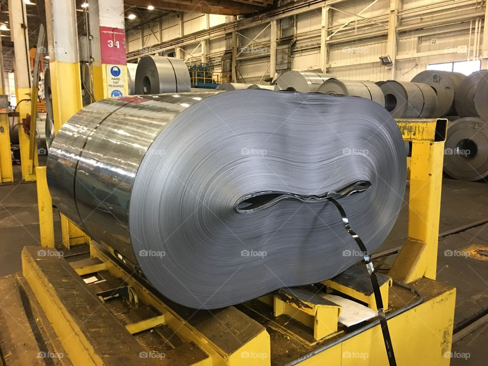 Collapsed steel coil