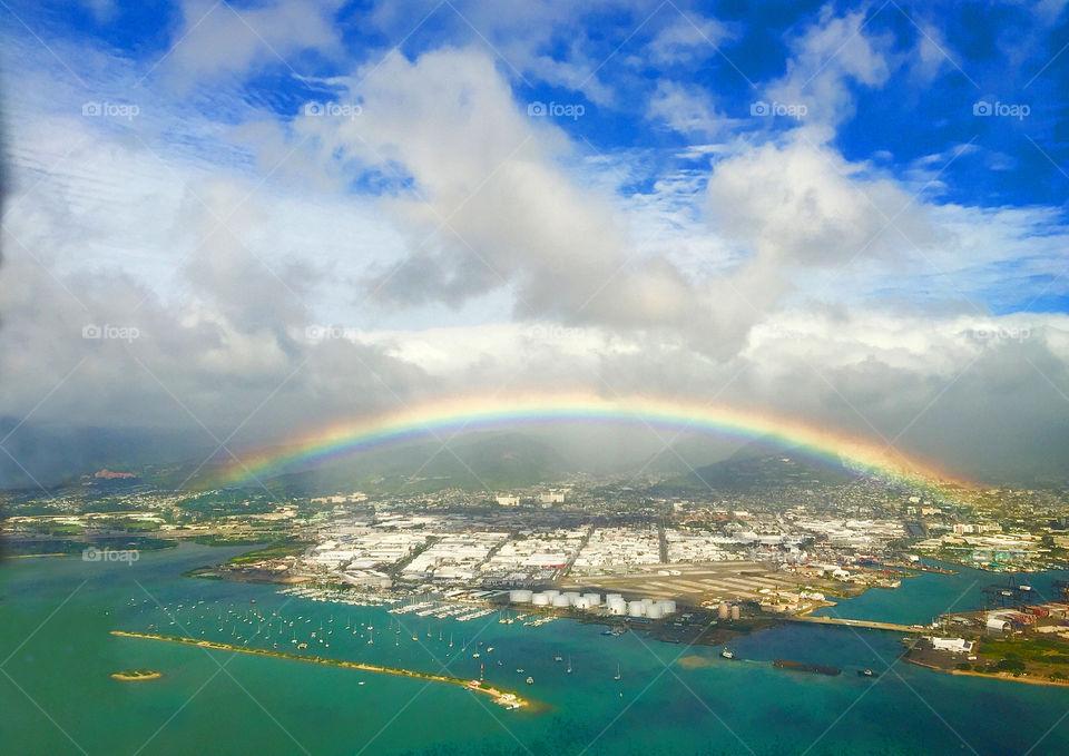 Beautiful colorful rainbow