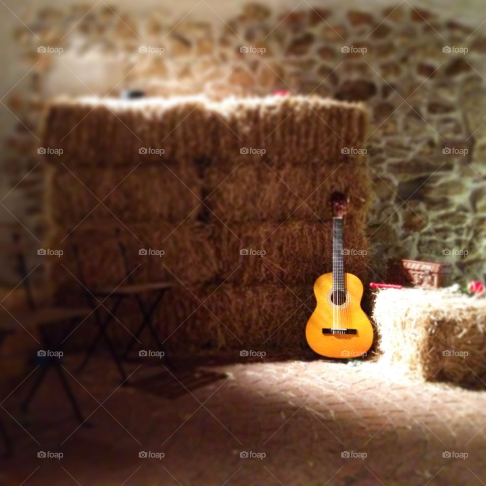 Spanish classic guitar waiting for you