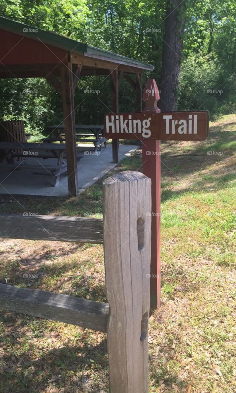 """The sign points you to what you think will be """" just another walk in the park"""". The deceptive brown sign will lead you to the """"Journey of a Life Time """""""