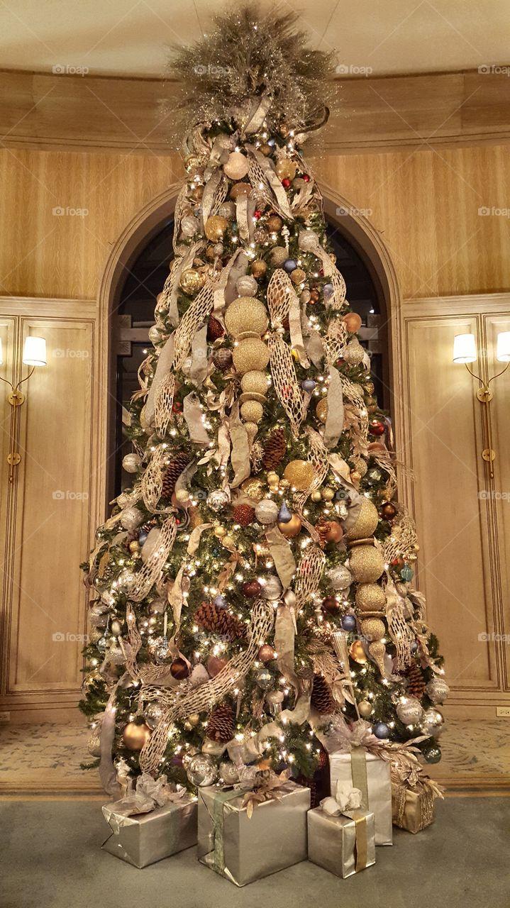 Hotel Lobby in December