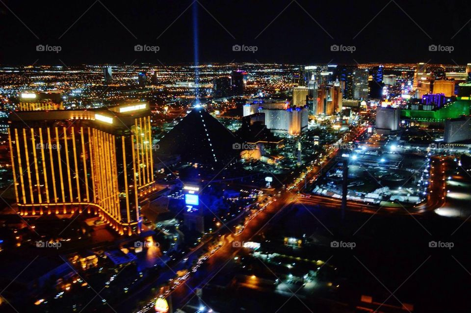 Las Vegas helicopter view