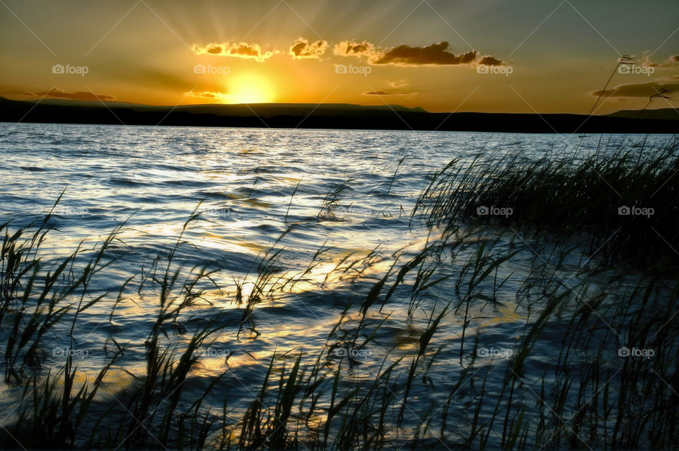 Sunset on Lake Van, Turkey