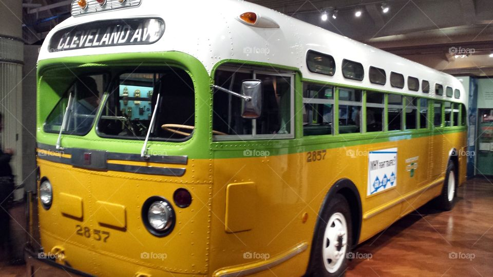 Rosa Parks Bus. Taken at The Henry Ford Museum, Dearborn, MI