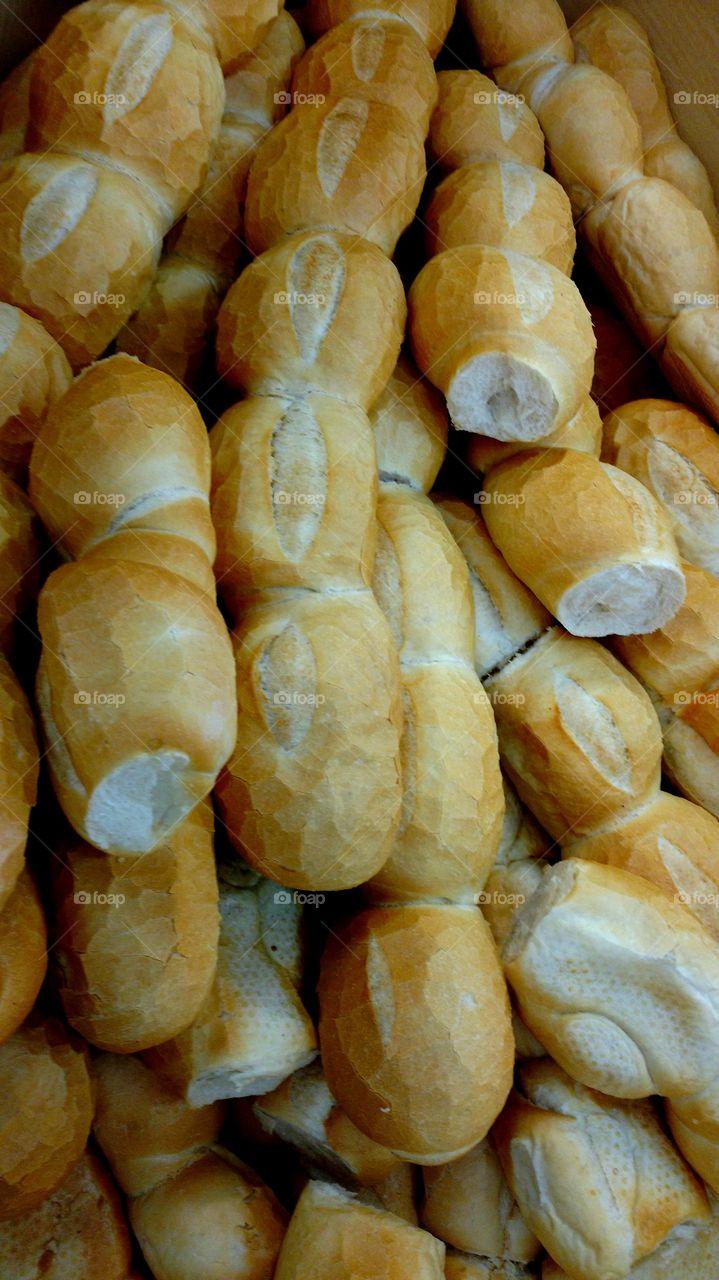Pão francês.