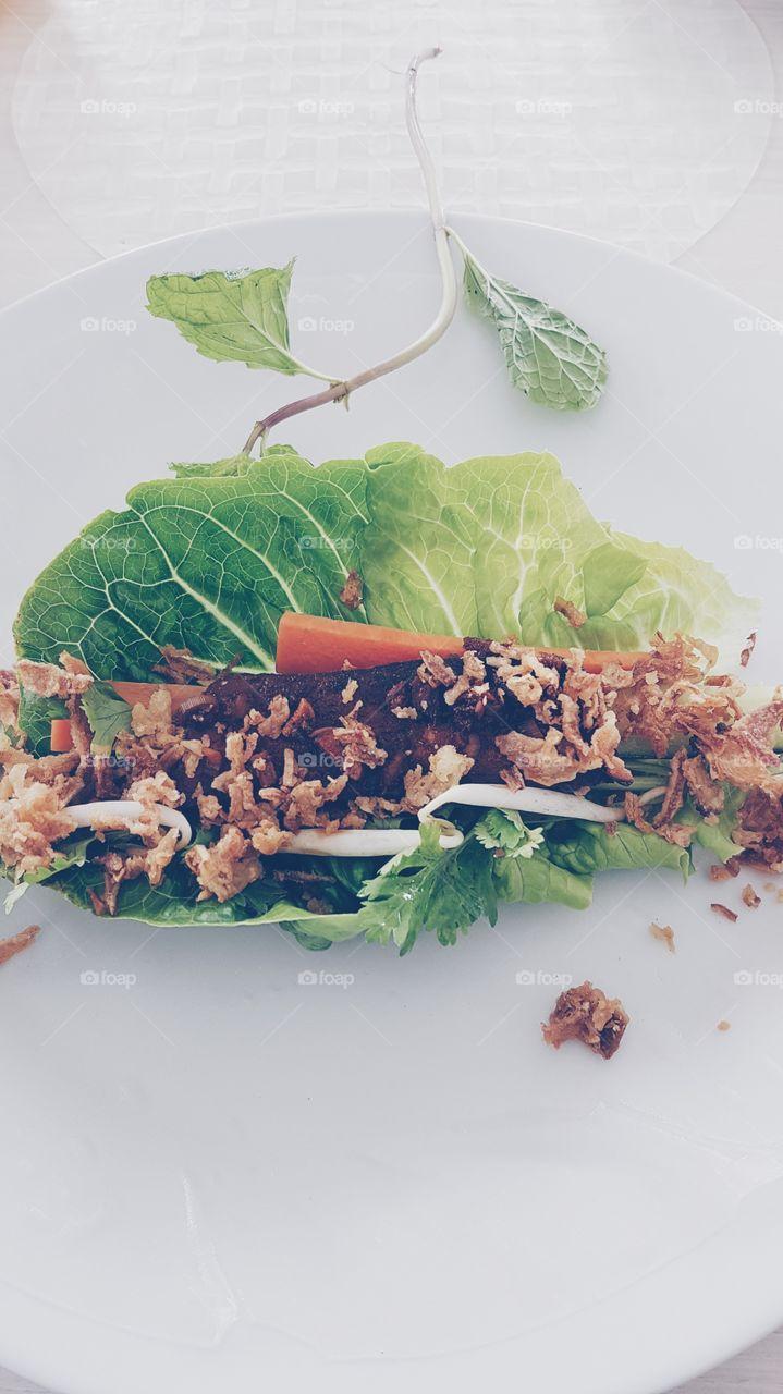 Food in leaf