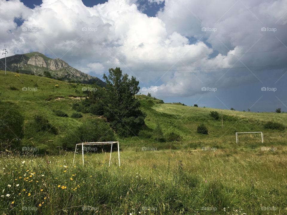 Football field in italy
