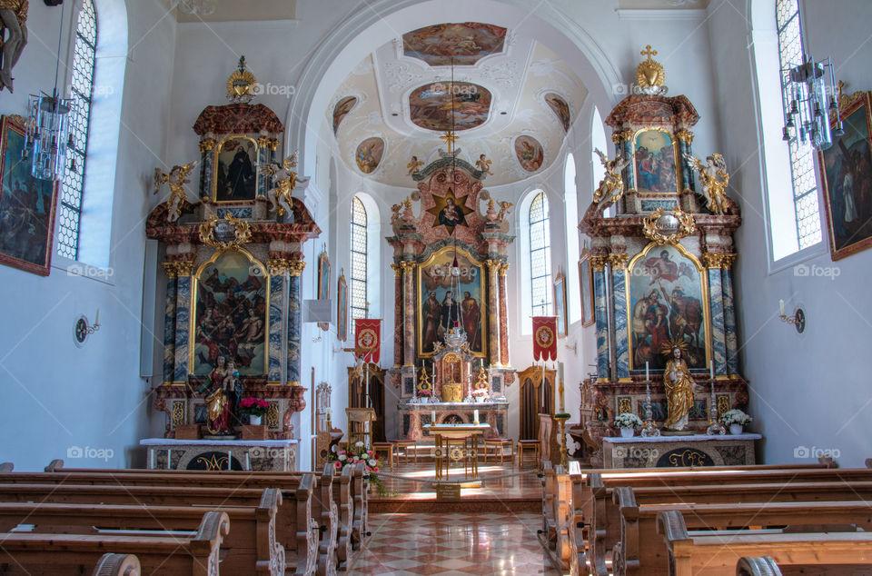 Church Of St Walburga interior