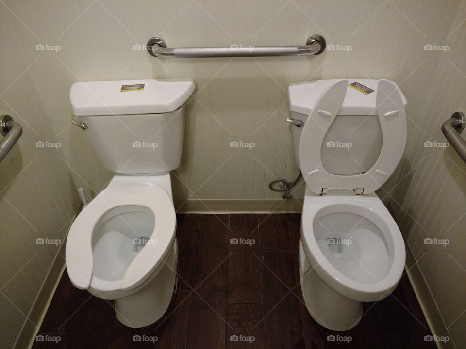 2 toilets one bathroom