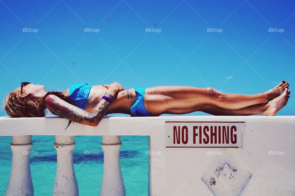 Woman, Summer, Water, Relaxation, Travel