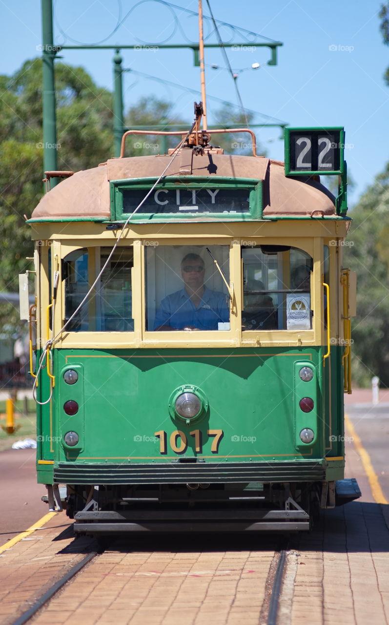 Old tram in Perth Australia