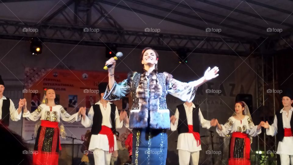 Folk singer acting