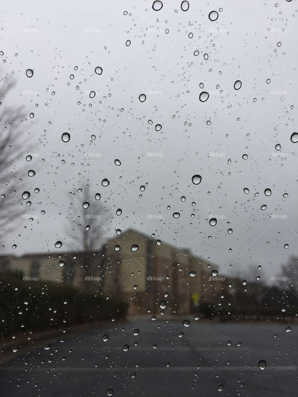Kennesaw State University on a rainy day.