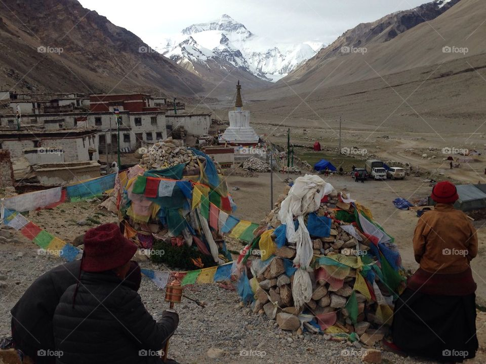 The road to the Mt. Everest Base Camp