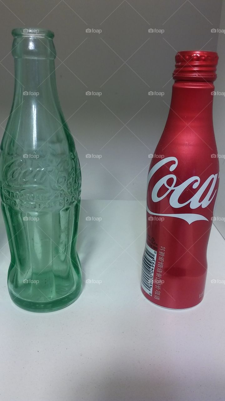 coca cola. bottle or can