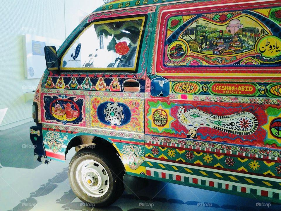 Bright mini van