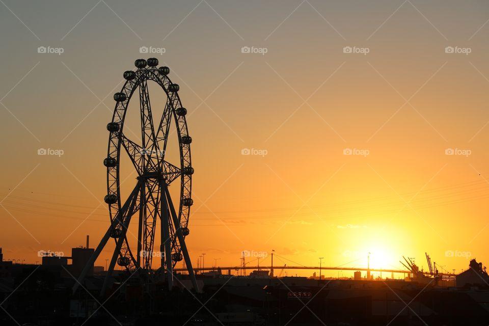Sunset on Dockland