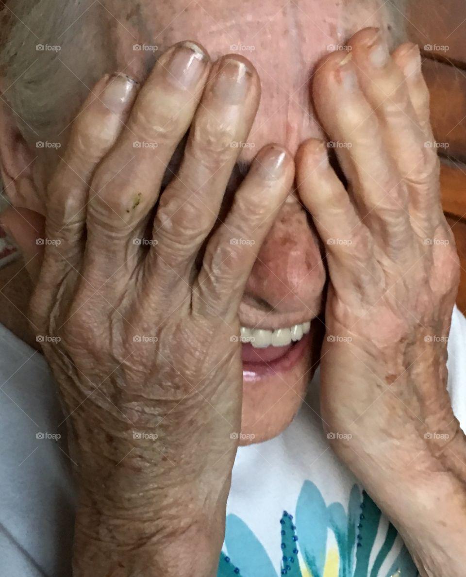 Laughing grandma