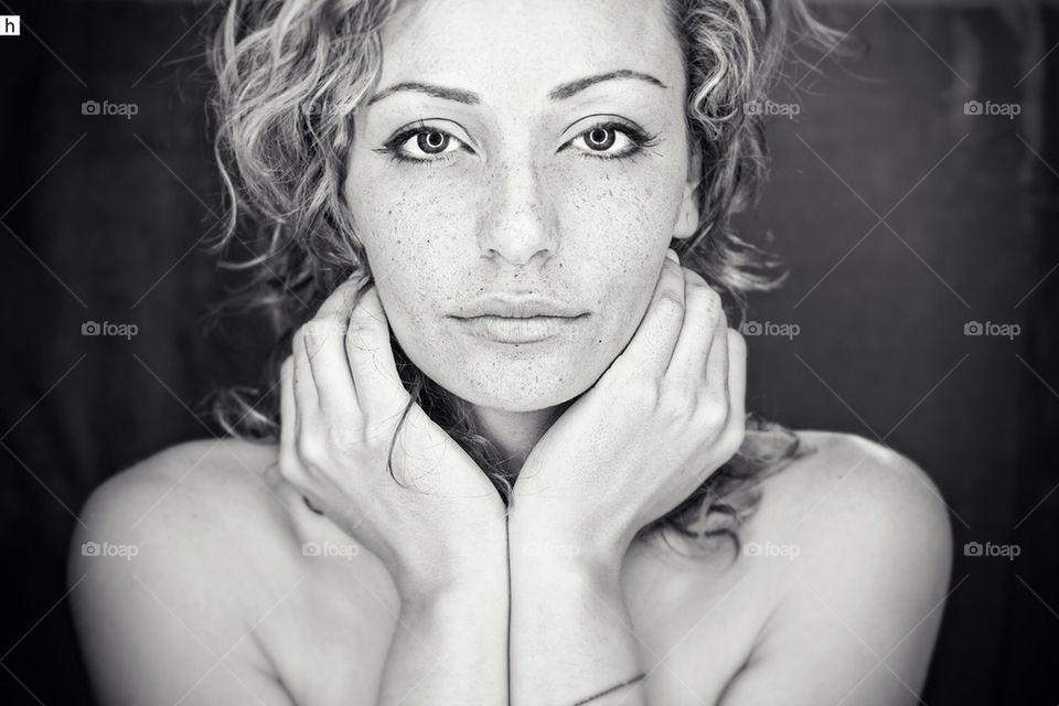 portrait | people, adult, one, monochrome
