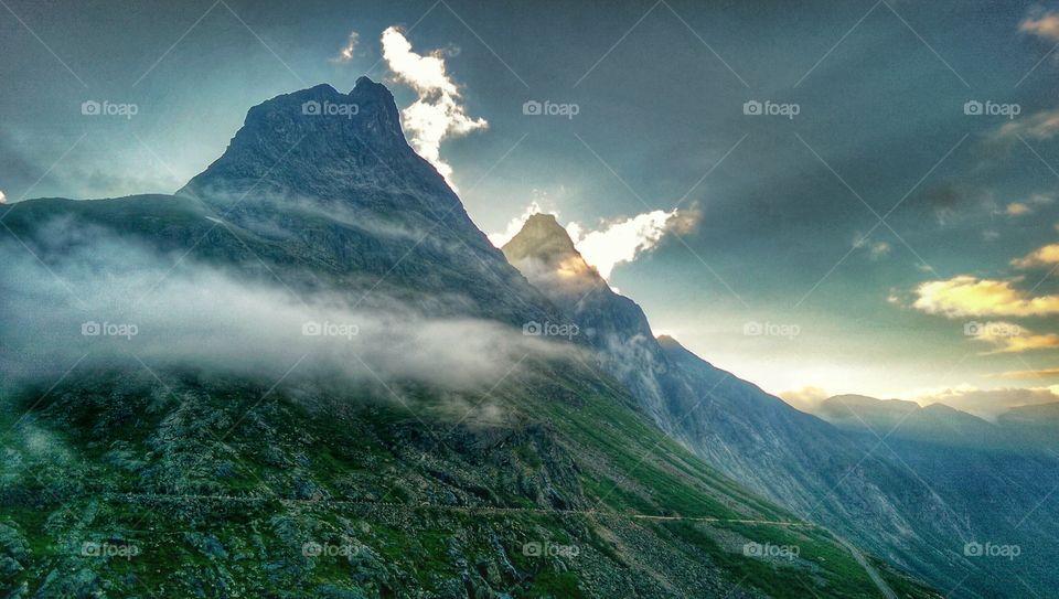 Smokey Mountains. taken at Trollstigen Norway