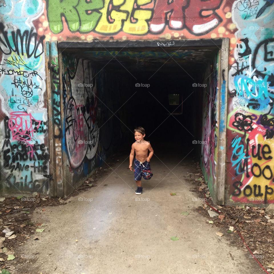 Graffiti, People, Street, Urban, Festival