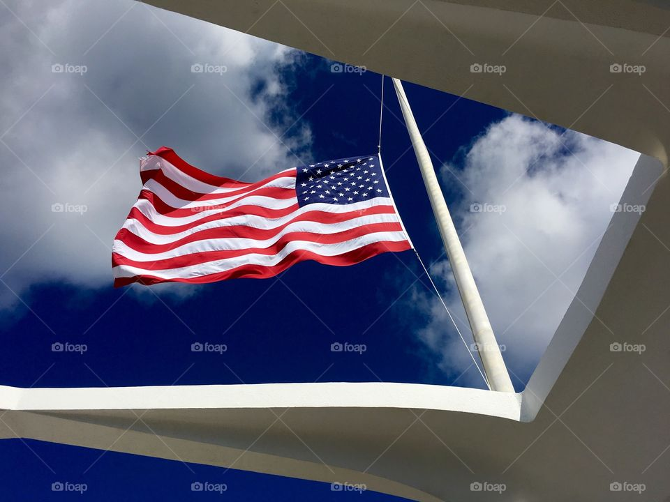 Aloha. USS Arizona Memorial Flag